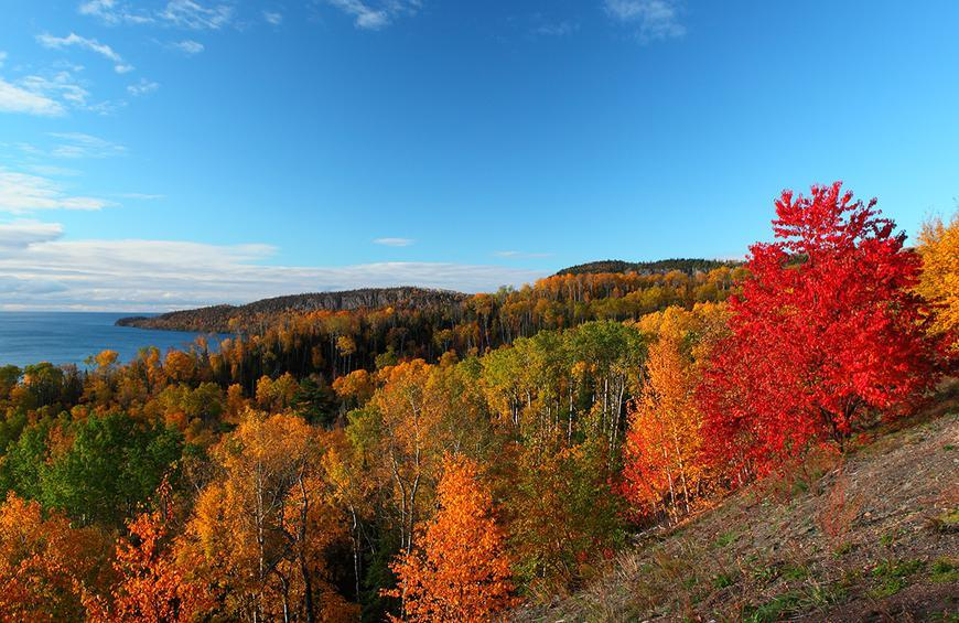 Maryland Sugarloaf Mountain From The Best Fall Foliage