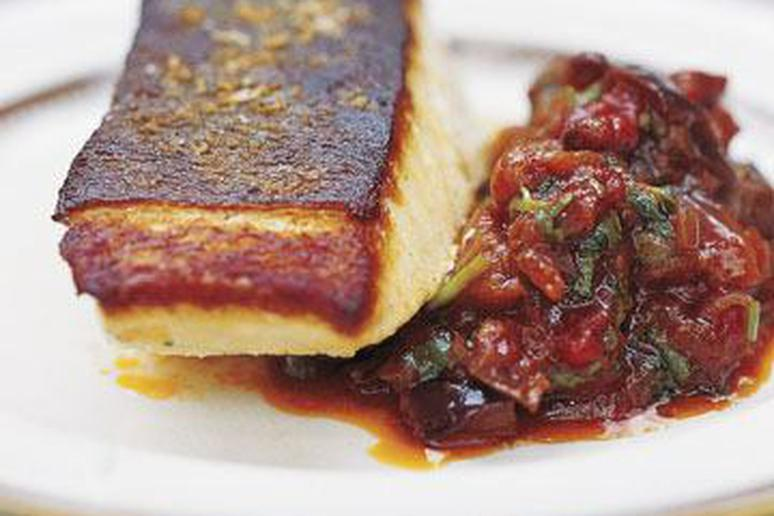 Roasted Halibut with Sichuan Eggplants Recipe