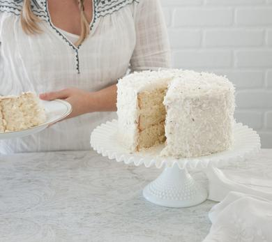 Coconut Lavender Cream Cake
