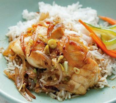 Clay Pot Catfish with Pickled Carrots and Cucumbers