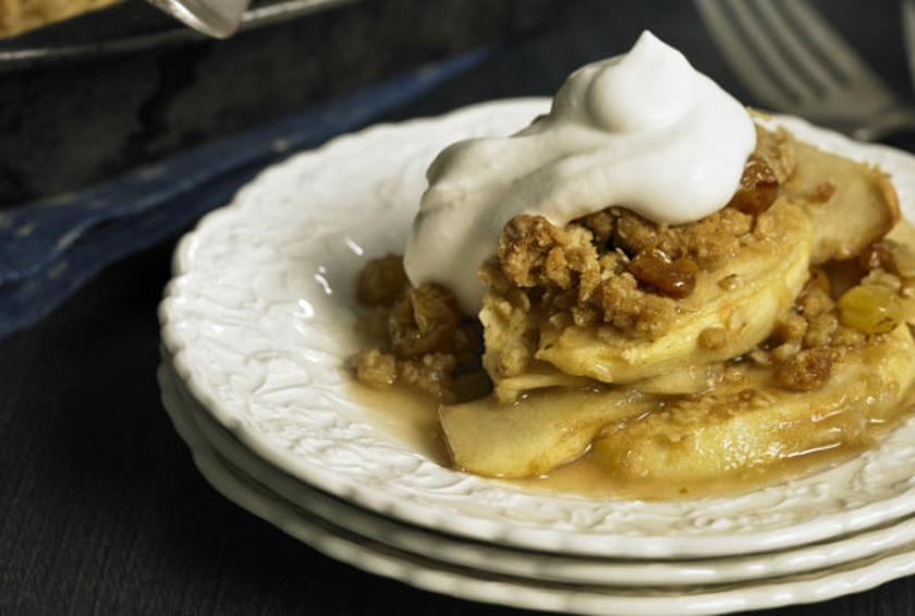 Celtic Apple Crumble with Irish Whiskey Cream Sauce Recipe by Lauren ...
