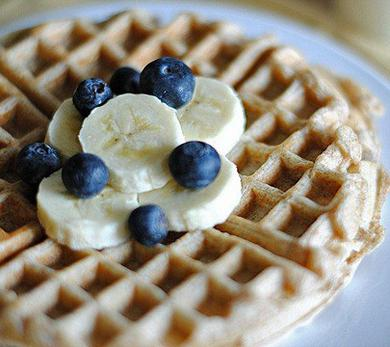 Whole-Wheat Banana Waffles