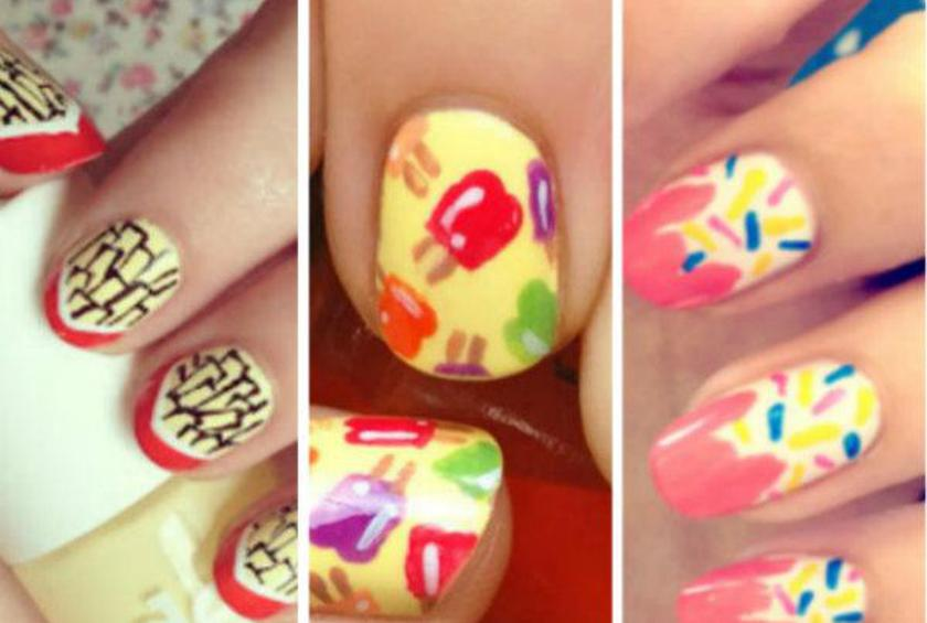 10 Cool Food Inspired Nail Designs