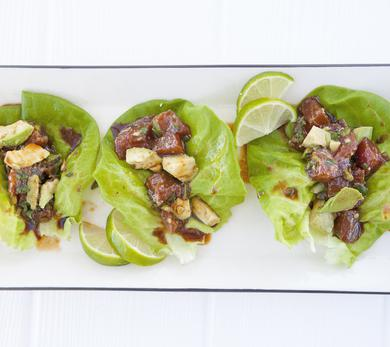 Lettuce Wraps with Ahi Tuna