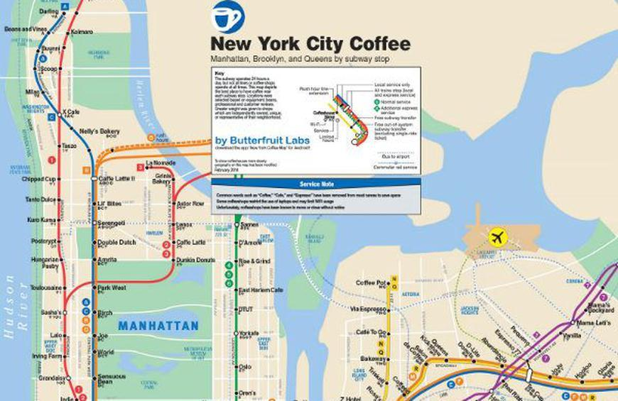 Best Mta Subway Map App For Android For New York City.Butterfruit Labs Presents The Best Coffee In Nyc By Subway