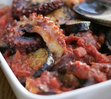 Octopus with Eggplant