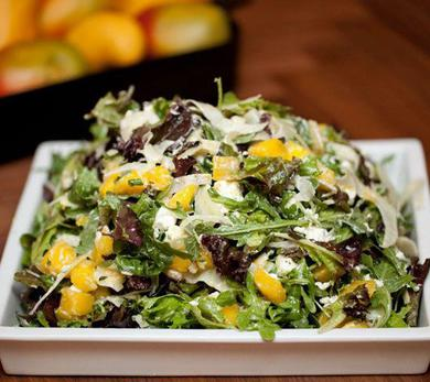 Quick-Pickled Mangos with Tender Greens