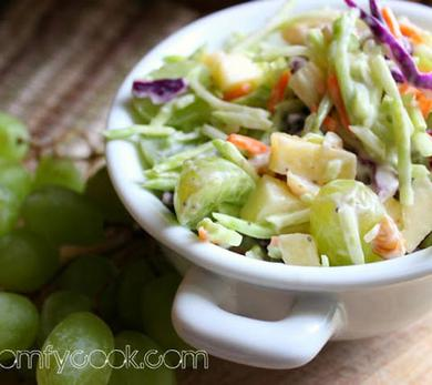broccoli slaw waldorf salad