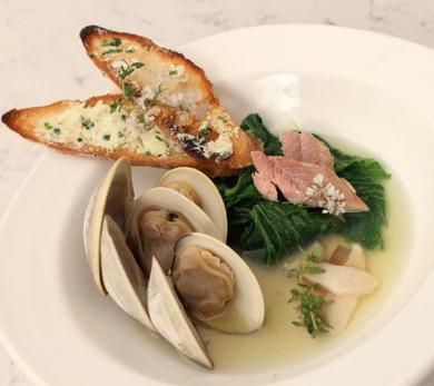 Dish with Diane: Chef Kerry Heffernan's Ragout of Clams, Eel and Mustard Greens