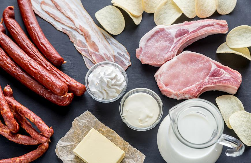 Foods with saturated fats
