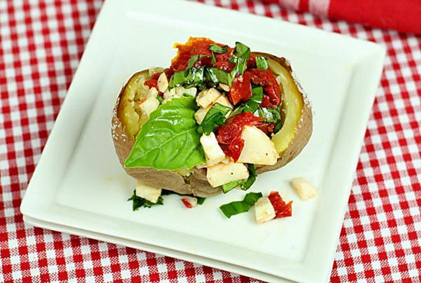 Caprese Stuffed Baked Potatoes