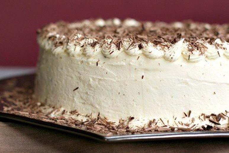 Chocolate Layer Mousse Cake with Cognac
