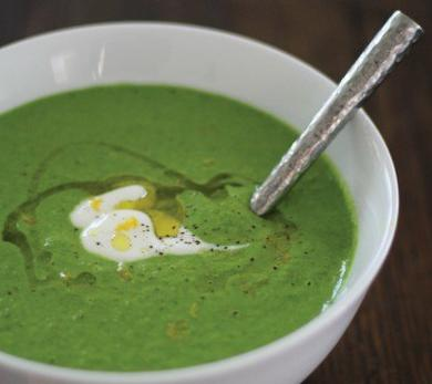 Chilled Asparagus and Leek Soup (Vichyssoise)