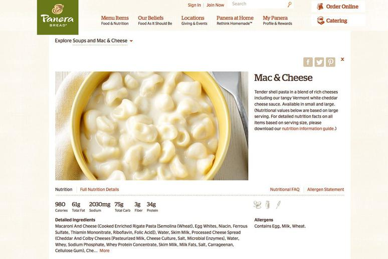Mac And Cheese Whole Foods Calories