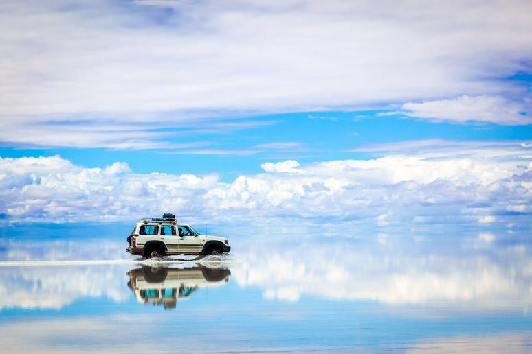 Cross the Salar de Uyuni in Bolivia