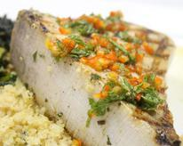 Grilled Swordfish with Thai Dipping Sauce