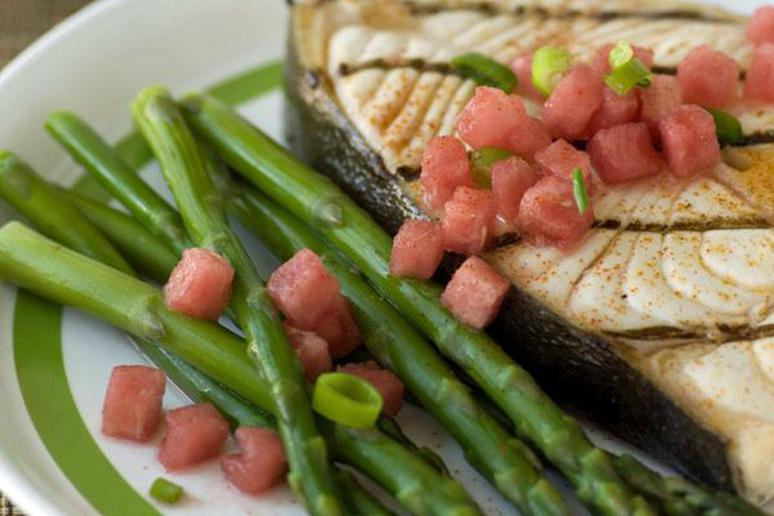 Halibut with Watermelon Salsa