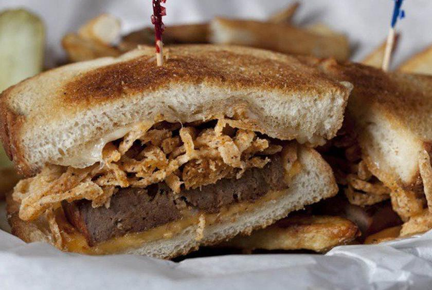 Buck's T-4 Bison Meatloaf Grilled Cheese