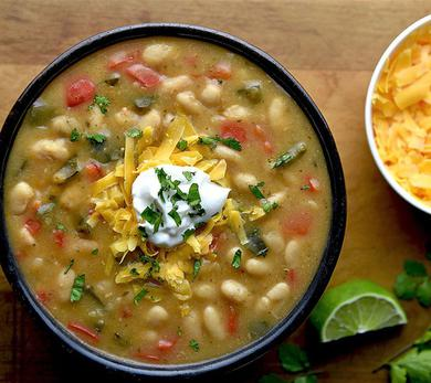 Poblano White Bean Chili