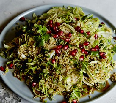 Shaved Brussels Sprouts & Freekeh Salad
