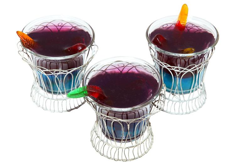 Gummy Worm Jell-O Cups