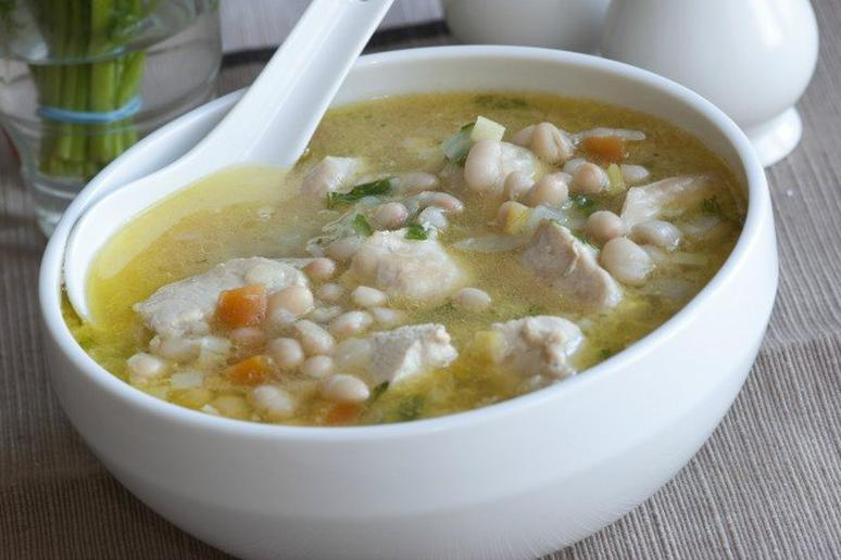 15-Minute White Bean Soup with a Soft-Boiled Egg