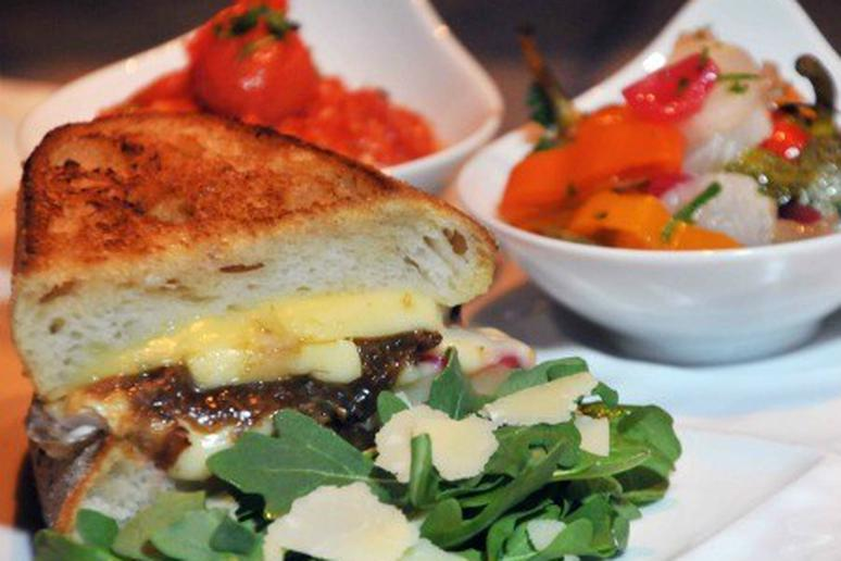 Grilled Cheese with Epoisses, Oxtail Marmalade and Smokey Tomato Coulis