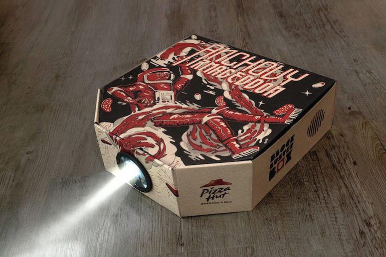 It Sells Pizza Boxes That Double as Movie Projectors