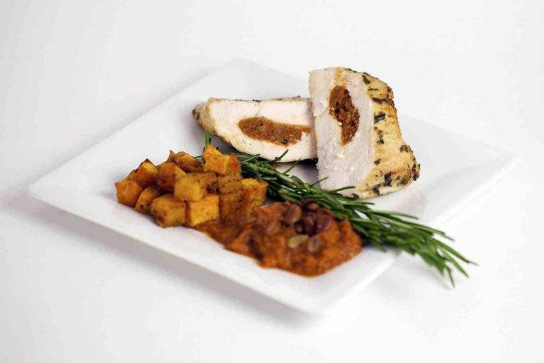 Pumpkin-Stuffed Chicken Breast