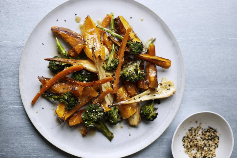 roasted vegetables and miso