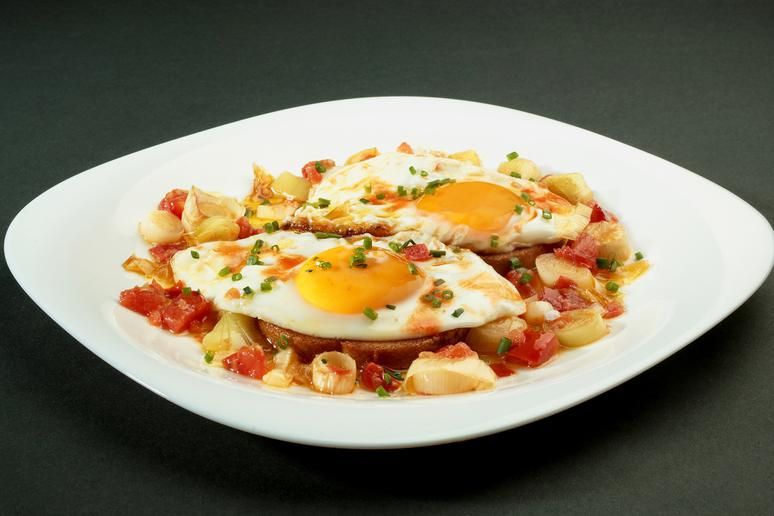 French Ratatouille With a Fried Egg