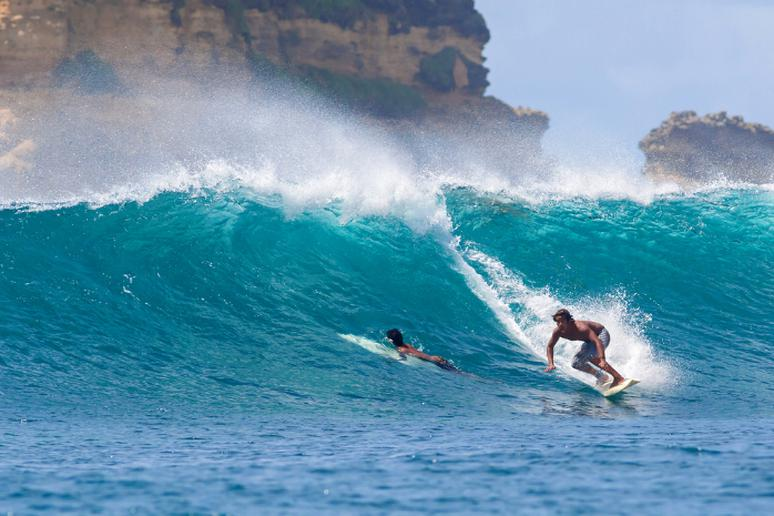 Go surfing in Lombok, Indonesia