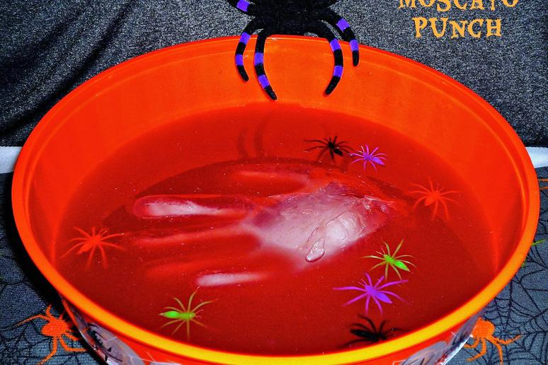 Ghoulishly Good Red Moscato Punch