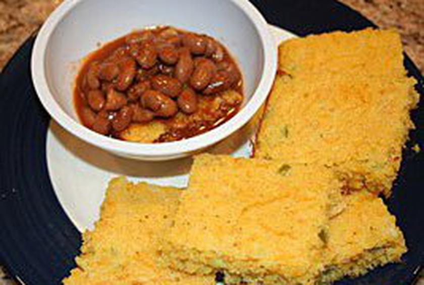 Cornbread with beans