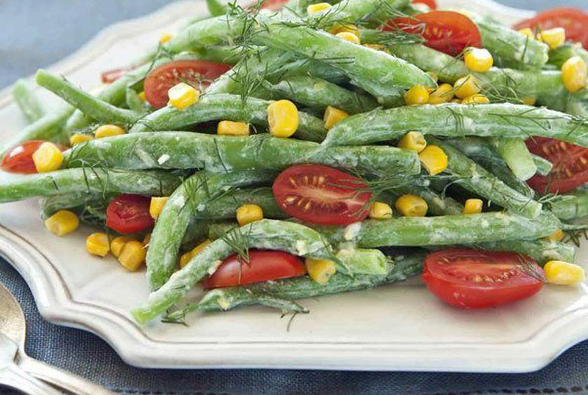 Green Bean Salad with Goat Cheese