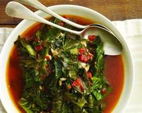 Collard Greens in a Spicy Tomato Sauce