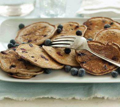 Whole-Wheat Blueberry Pancakes