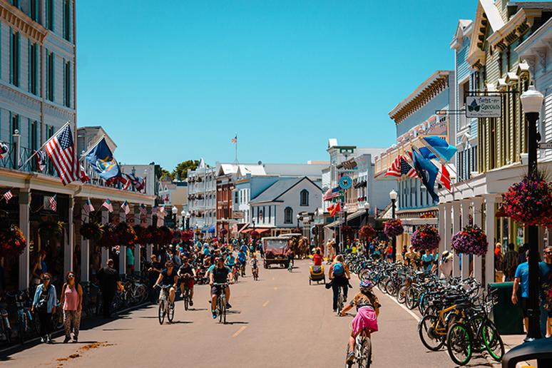 Travel back in time to Mackinac Island, Michigan