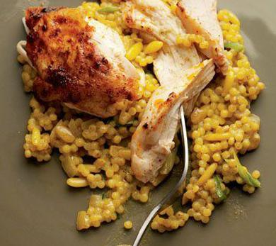 Pulled Blackened Chicken with Toasted Couscous