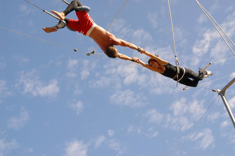 2. Fly high on the trapeze