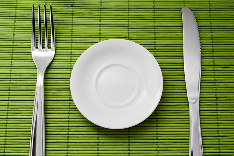 Don't weigh all your food, just use a smaller plate