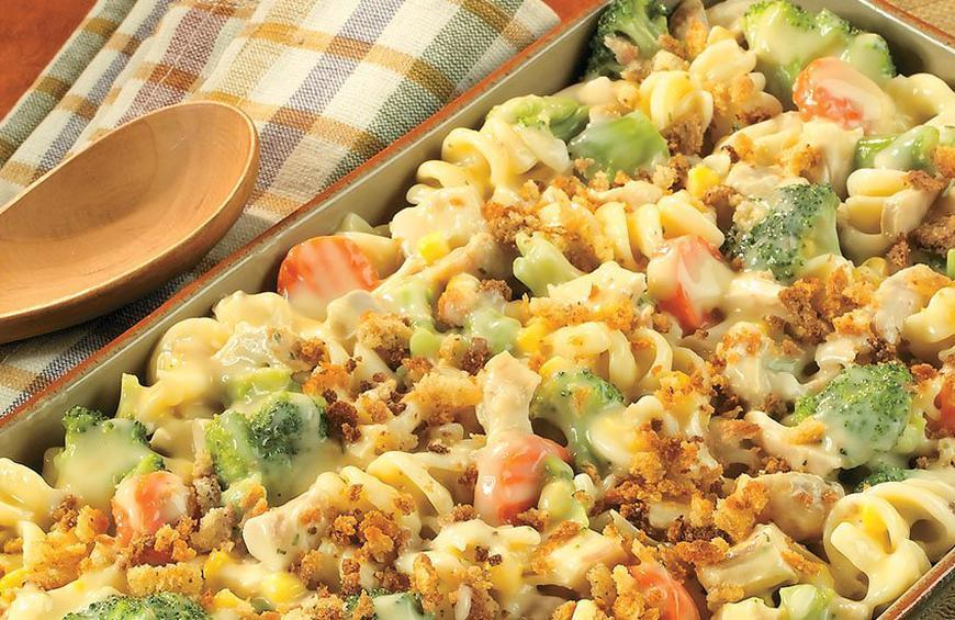 Chicken Pasta And Vegetable Casserole Recipe By Aaliyah Gibson