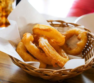 Prosecco Battered Onion Rings