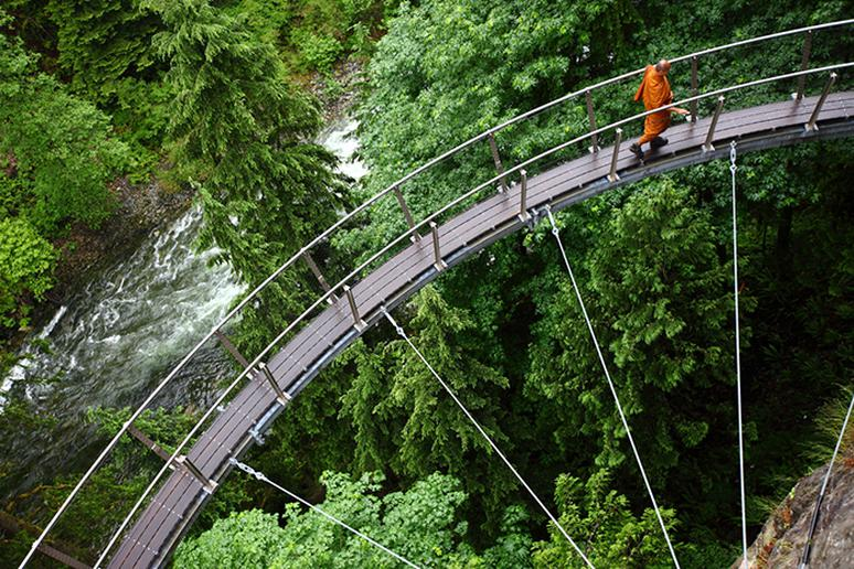 Cliffwalk in Capilano Suspension Bridge Park, Canada