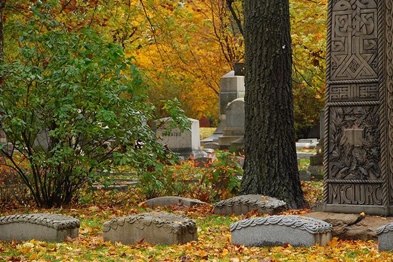 Graceland Cemetery in Chicago, Illinois