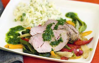 Cumin-Crusted Grilled Pork Tenderloin with Salsa Verde