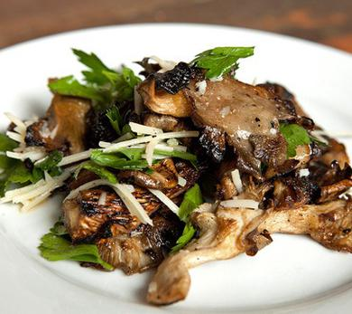 Grilled Oyster Mushrooms