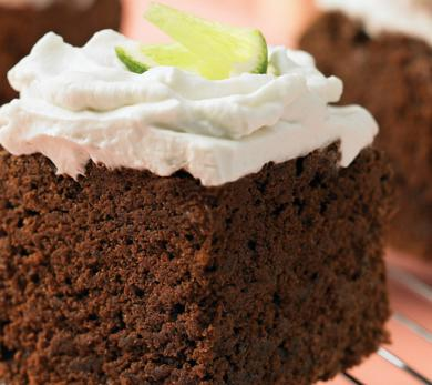 Chocolate, Lime, and Coconut Cake