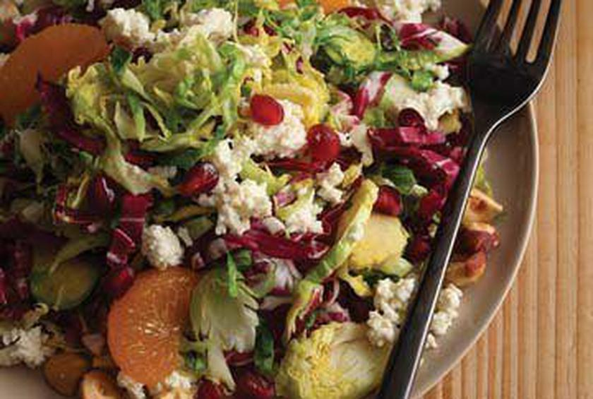 Pomegranate and Brussels Sprout Salad