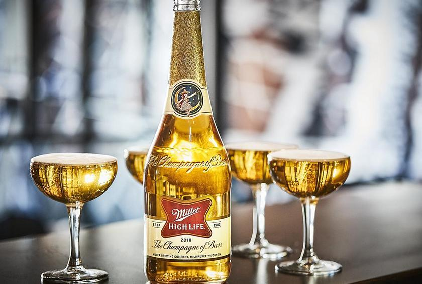 miller high life will flow from champagne bottles this holiday season